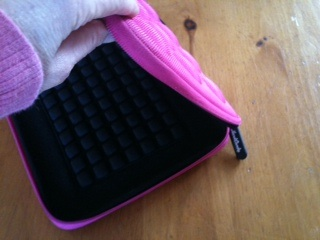 iPad with pink case